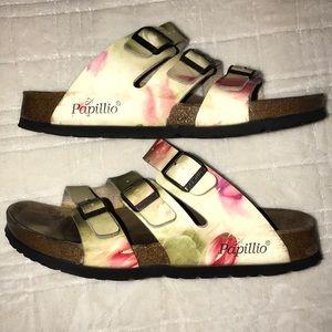 "BIRKENSTOCK ""Papillio"" Floral Florida Sandals 39"